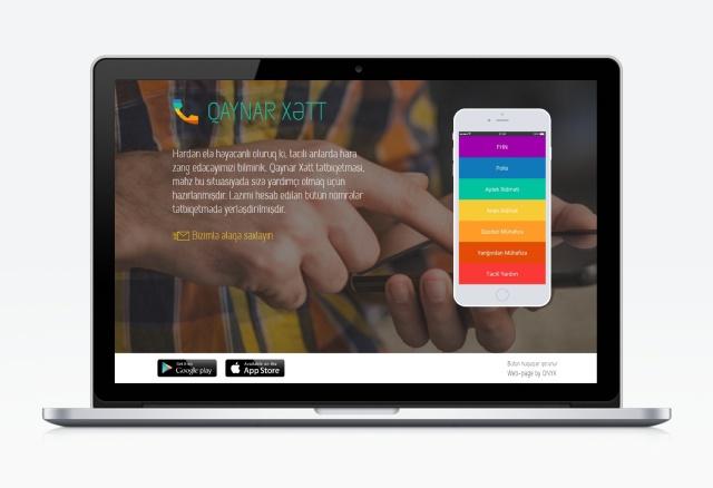 Qaynar Hett App's web page